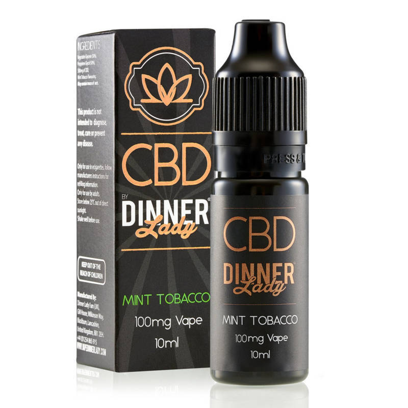 Mint Tobacco CBD E-Liquid by Dinner Lady 10ml 100mg