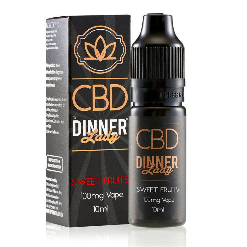 Sweet Fruits CBD E-Liquid by Dinner Lady 10ml 100mg