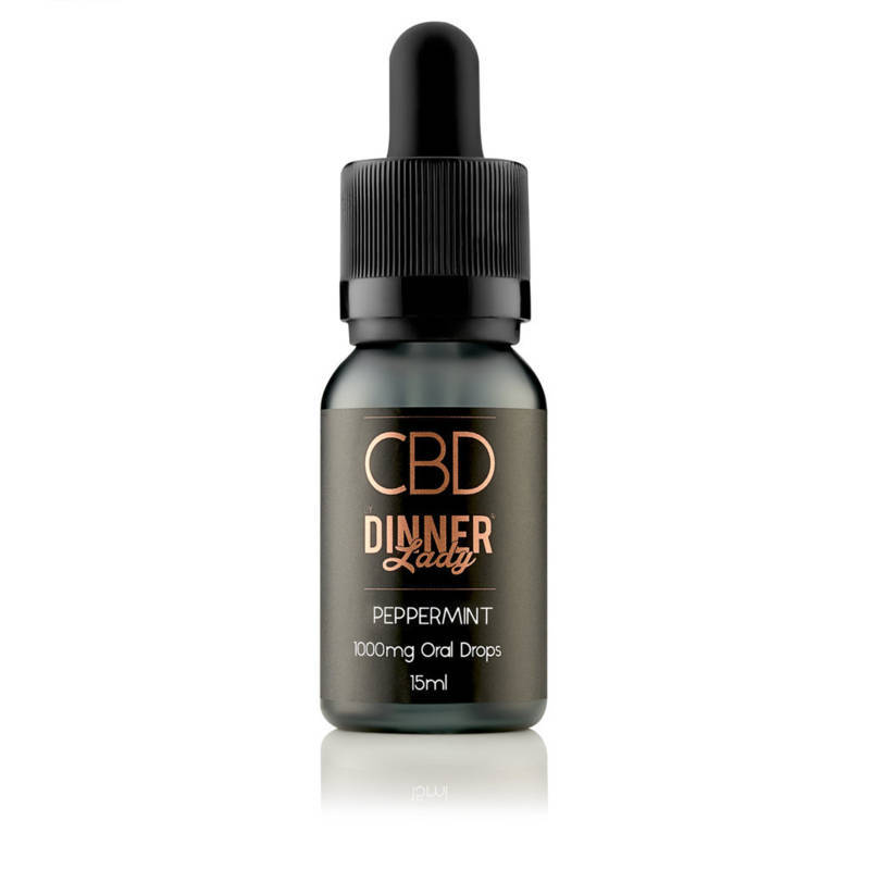 Peppermint CBD Oral Drops by Dinner Lady 15ml
