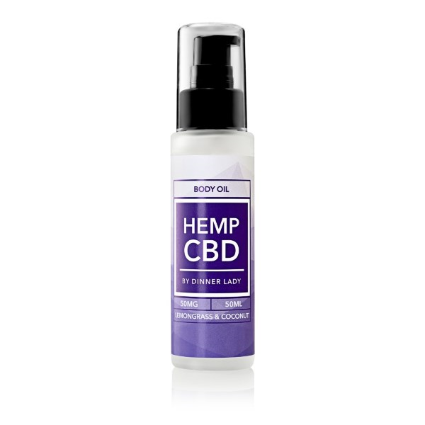 Dinner Lady CBD Lemongrass & Coconut Body Oil
